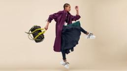 Fashion shoot of woman wearing athleisure